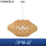 よい価格のデザイナーモデル木チップペンダント灯