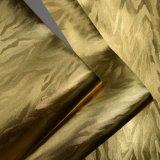 Metallisches glänzendes Chemiefasergewebe PU-Leder markierte dekoratives Leder