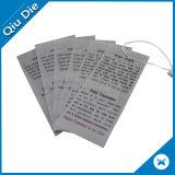 Бирка Hang прозрачного качания печатание Silk-Screen пленчатая с шнуром