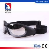 Lunettes de verres de sûreté avec la courroie élastique réglable pour l'épreuve Fxq026 de la poussière de vent