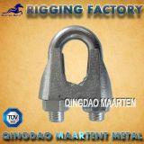 Clips galvanisés par DIN741 de câble métallique de fonte malléable de matériel de calage
