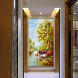 Het in het groot Olieverfschilderij Van uitstekende kwaliteit van de Decoratie, 3D Mooie Olieverfschilderij van het Landschap van het Beeld