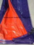 Couverture imperméable à l'eau orange bleue de bâche de protection de PE
