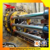 Tubulação da rocha que levanta a máquina para o oleoduto