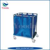 Carrito de lino de acero inoxidable con una bolsa de suspensión