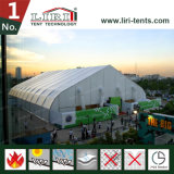Большой изогнутый шатер Hall 40X100m для выставки