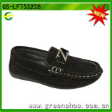 蛇行したPUの子供の偶然靴熱いカラー(GS-LF75322)