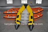 Liya Bateau de pêche en aluminium à fond plat de 10 pieds Bateau pneumatique gonflable