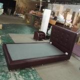 Самомоднейшая кожаный кровать, просто кровать (6027)