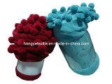 100% Polyester Coral Fleece couverture avec Pompom