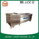 Máquina de lavar comercial com a escova para a trasformação de frutos