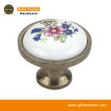Maniglia di ceramica in lega di zinco di tiro del Governo della mobilia delle maniglie del perno (C258 dina)
