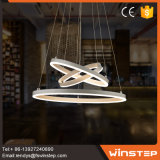 Home luz LED circular decorativas