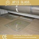 4mm Silk Bildschirm gedrucktes ausgeglichenes Glas mit Bleistift-Rändern