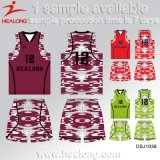Uniforme cheio do basquetebol do Sublimation de Healong