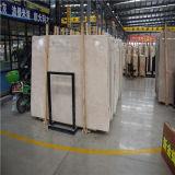 Mattonelle beige personalizzate del marmo della lastra per la decorazione interna