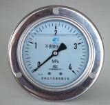 100mm unterer Typ mit Flansch-untererem Anschluss-Manometer