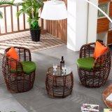 1+2 de tables et de tabourets de bar en rotin de loisirs l'Osier tableau Ensembles de meubles de jardin (Z307)