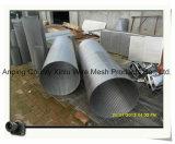 Cestas/cesta cilíndricas da tela da mina fio da cunha