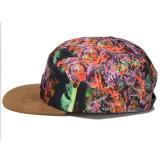 カスタムスエードの縁の革パッチのタイの染料5のパネルの帽子