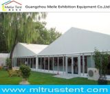 20mx40m grosses weißes Partei-Zelt mit seitlicher Glaswand