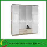 Wardrobe de madeira de /MDF/MFC do cartão da melamina da mobília do quarto