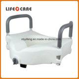 Plástico discapacitados eleva inodoro con tapa