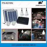 4개의 전구 및 USB 태양 전화 Cahrger를 가진 휴대용 태양 가정 조명 시설