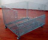 Клетка паллета ячеистой сети пакгауза Stackable стальная/клетка хранения