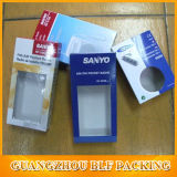 De la pestaña falsa caja de empaquetado con ventana de PVC