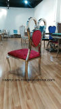 Chaise de salle à manger en acier inoxydable Banquet Président Président de mariage