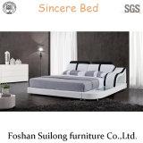8002 현대 실제적인 Leatherbed 가구 현대 침대
