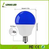Bombilla azul vendedora caliente 40W de G14 5W LED equivalente con E12 para la decoración