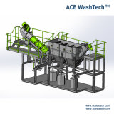 Machine à laver de sac tissée par film de rebut du PE pp