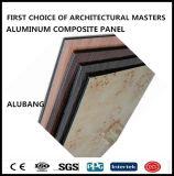material de la construcción de edificios de 4m m/el panel compuesto plástico de aluminio/de aluminio