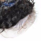 インドの深い波130%の密度の完全なレースのかつらの人間のバージンの毛