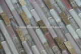 Lineare Glasmischungs-Stein-Mosaik-Fliese für Küche Backsplash
