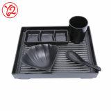 Conjunto de utensilios de cocina china forma irregular de melamina cena