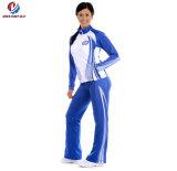 Куртка 100% износа Cheerleading Tracksuit пальто спорта втулок верхнего полиэфира таможни надувательства длинняя сексуальная