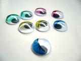 Mover los ojos para muñecas de Ojos de ondulación de pestañas con adhesivo