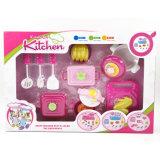 Fingere la Camera educativa della cucina che cucina l'insieme dei giocattoli dei bambini