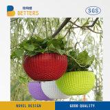 Pot de fleurs en plastique personnalisé clairement LED Flower Pot Pot de fleurs