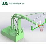Sport-Geräten-passten faltbares bewegliches hydraulisches Basketball-Band/Standplatz an