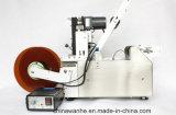 Máquina de etiquetado adhesiva automática de la botella redonda con la impresora del código