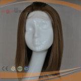 Première perruque en soie blonde courte d'avant de lacet (PPG-l-01727)