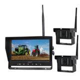 """9 """" система камеры Rearview 2CH 2.4G цифров DVR для трактора/трейлера с водоустойчивым опционным случаем"""
