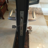Puerta de plegamiento de aluminio del perfil con el vidrio doble para la venta
