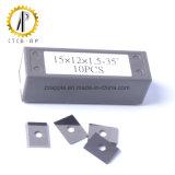 inserto Indexable del carburo di 15X12X1.5mm per funzionamento del legno