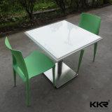 Rectangle blanc marbre artificiel Surface solide Table à manger 170224