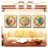 Retrato de suspensão da arte da parede da pintura a óleo de 3 painéis para a HOME, escritório, decoração do hotel